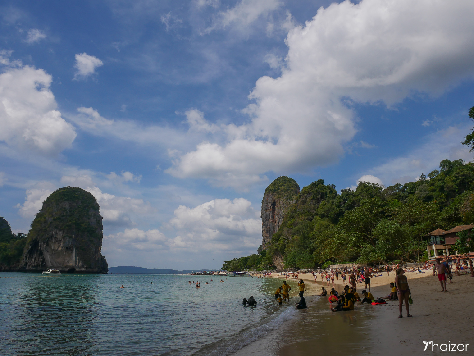 view of Phra Nang Beach looking from the cave