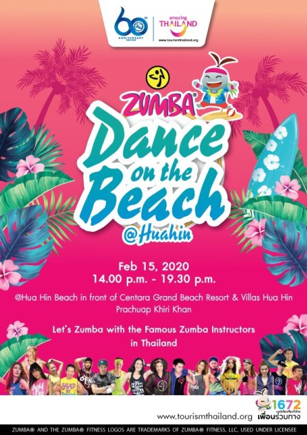 TAT stages Zumba Dance On The Beach @ Hua Hin