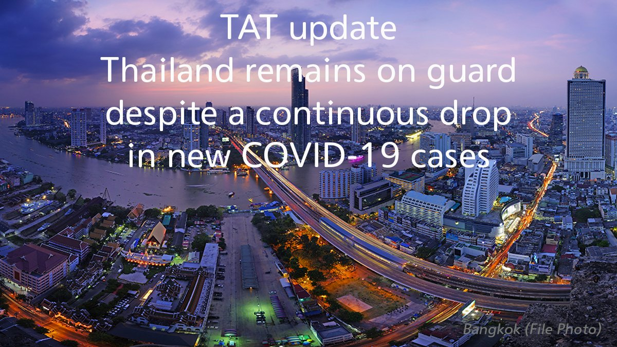 tat-update-thailand-remains-on-guard-despite-a-continuous-drop-in-new-covid-19-cases TAT update: Thailand remains on guard despite a continuous drop in new COVID-19 cases