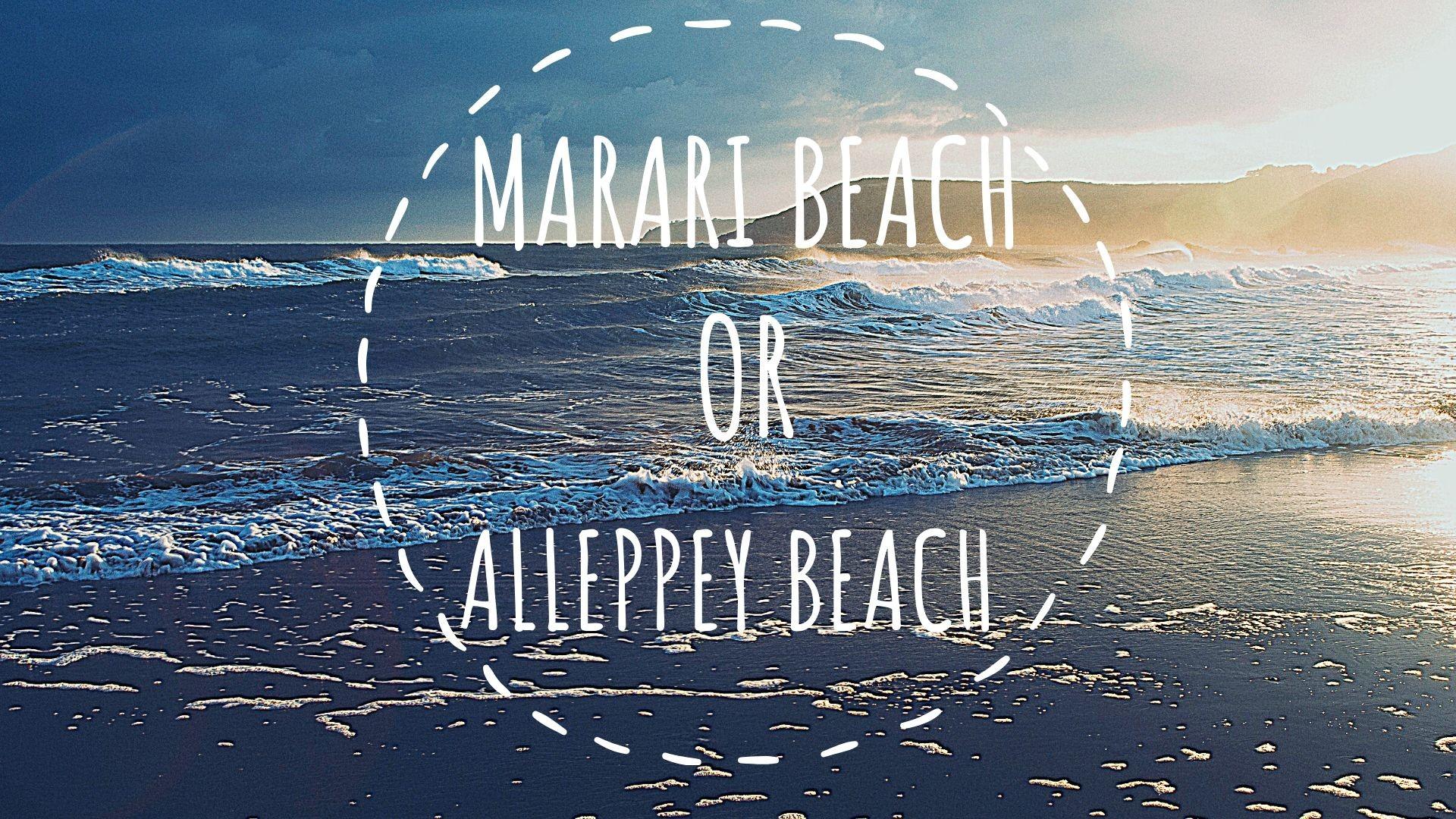 Marari or Alleppey Beach