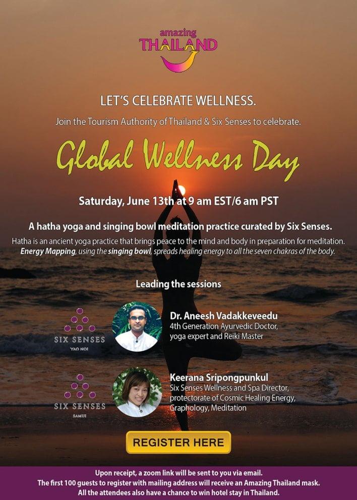 TAT, Six Senses celebrate Global Wellness Day 2020