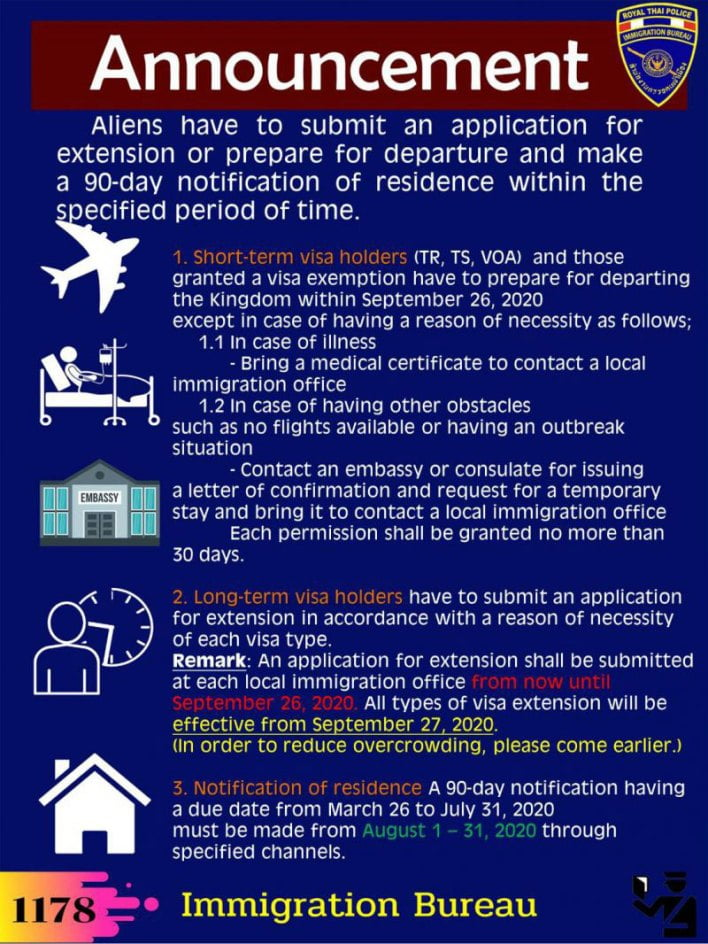 thailand-extends-visa-relief-for-foreigners-until-26-september-2020 Thailand extends visa relief for foreigners until 26 September 2020